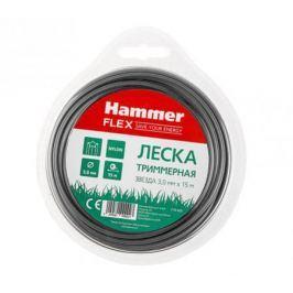 """Леска триммерная Hammer Flex 216-403 3.0мм*15м сечение """"звезда"""""""