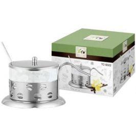 022S-TC-2((кофе) Сахарница TECO из стекла и нержавеющей стали (200мл)