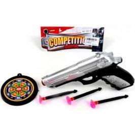 Пистолет Наша Игрушка Пистолет серебристый черный 562-6