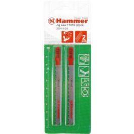 Пилка для лобзика Hammer Flex 204-110 JG MT T118A металл, 67мм, шаг 1.1-1.5, HSS, 2шт.