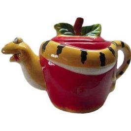 Чайник ЯБЛОЧНАЯ ЗМЕЯ, 1 шт, 16*10,5 см, керамика, в карт кор