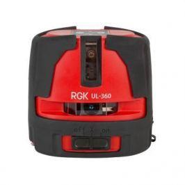 Лазерный нивелир RGK UL-360 дальн.40м (с приемником70м) точн.±2/10мм/м 0.5кг