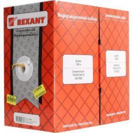 Кабель UTP indoor 4 пары категория 5e REXANT одножильный медь 305 м Желтый