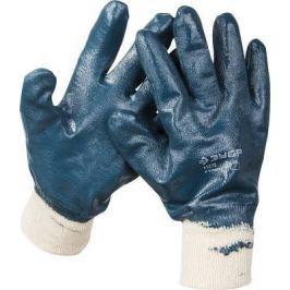 """Перчатки ЗУБР """"МАСТЕР"""" рабочие с манжетой, с полным нитриловым покрытием, размер L (9) [11272-L]"""