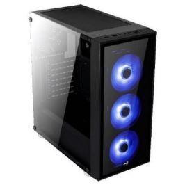 Корпус Aerocool Quartz Blue без БП, ATX, боковое окно, черный