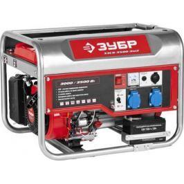 Бензиновый генератор ЗУБР ЗЭСБ-3500-ЭМ2 3000/3500Вт 220/12В 4ткт ручной и электрический пуск