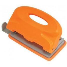 Дырокол COLOURPLAY, на 10 листов, пластиковый корпус, неоновый оранжевый