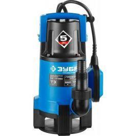 Насос ЗУБР НПГ-Т3-550 профессионал т3 погружной дренажный для грязной воды d частиц до 35мм 550Вт