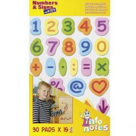 Набор Цифры и Знаки, 20х37см, с липким слоем, 30 знаков по 15шт каждого