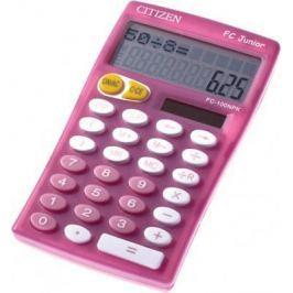 Калькулятор карманный, 10 разр., JUNIOR 2-х стр., дв. питание, розовый, разм.129x76х17мм FC-100NPKCF