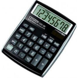 Калькулятор настольный 8 разр. 2-е питание TAX MU, черный, разм. 135х108х24 мм