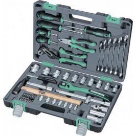 Набор инструментов STELS 14113 1/2 cr-v s2 усиленный кейс 58предм.