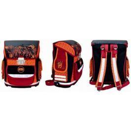 Ранец ортопедический Action! ANIMAL PLANET Тигр черный красный оранжевый рисунок AP-ASB4002/2/14