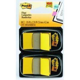 Закладки-ярлычки POST-IT, на полимерн. основе, желтые, 25ммх43,2 мм, 100 шт.