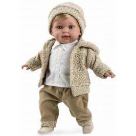 Arias ELEGANCE мягк кукла 42 см., в одежде бежев. мальчик, с соской, со звук. эфф. смех (3хLR44/AG13), в кор. 26*16,5*48 см.