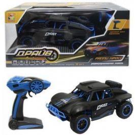 1toy Драйв, раллийная машина на р/у, 2,4GHz, 4WD, масштаб 1:18, скорость до 25км/ч, курковый пульт, амортизаторы, с АКБ, черно-синий