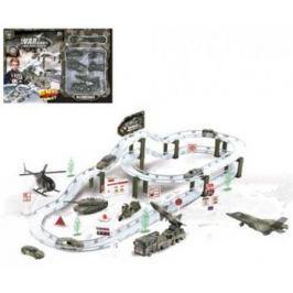 Набор Наша Игрушка Автотрек Военная база белый CM557-61