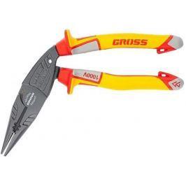 Утконосы GROSS 17181 длинногубцы комбинированные диэлектрические рукоятки до 1000в 200мм