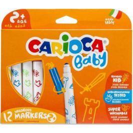 Набор фломастеров суперсмываемых CARIOCA BABY для детей от 2 лет, 12 цв., карт короб с европод