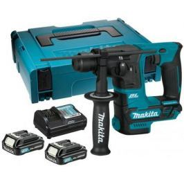 Перфоратор акк MAKITA HR166DWAJ SDS+ б\\щет, 10.8В, 2х2АчLi-ion(слайдер), 2реж, 1.1Дж, 0-4800у\\м