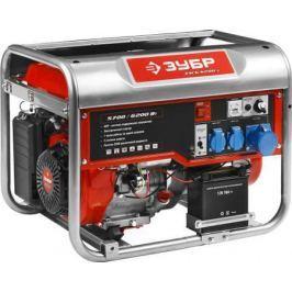 Генератор ЗУБР ЗЭСБ-6200-Э бензиновый 4-х тактный ручной и электрический пуск 6200/5700Вт 220/12в