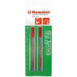 Пилка для лобзика Hammer Flex 204-125 JG WD T345XF мягкое дерево, 106мм, шаг 3.0, BiMET, 2шт.