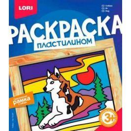 Раскраска пластилином Собака