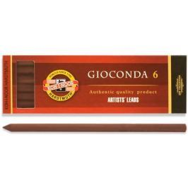 Сепия для цангового карандаша, коричневая, 5,6 мм, 6 шт./уп.