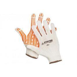 """Перчатки STAYER """"EXPERT"""" трикотажные с защитой от скольжения, 10 класс, х/б, L-XL [11401-XL]"""
