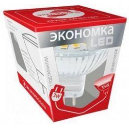 Лампа светодиодная ЭКОНОМКА Космос Eco_LED3wJCDRC30 LED 3Вт JCDR GU 5.3 230В 3000К Промо