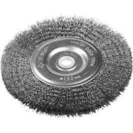 Кордщетка ЗУБР 35185-150_z01 ЭКСПЕРТ дисковая для станка витая сталь 0.3мм 150/12.7мм