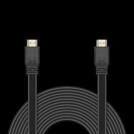 Кабель HDMI 10м Jet.A JA-HD10 плоский черный