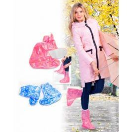 Чехлы грязезащитные для женской обуви - сапожки, размер L, цвет голубой KZ 0335