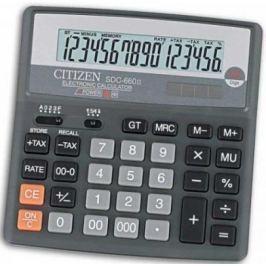 Калькулятор настольн,16 разр.,дв.питание, TAX-функция, десят. окр, разм.156*159*31мм,черный,карт.уп.