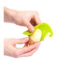 Губка для чистки овощей и фруктов многофункциональная, зеленая TK 0207