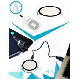 Аккумулятор беспроводной круглый для смартфонов с Lightning разъемом, белый SU 0049