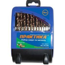 Набор сверл ПРАКТИКА 031-303 металл 19шт.: 1.0-10.0мм, в мет.кассете