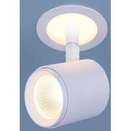 Встраиваемый светодиодный светильник Elektrostandard DSR002 9W 3300K белый матовый 4690389110634