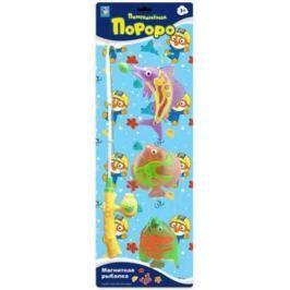 """Интерактивная игрушка 1Toy """"Магнитная рыбалка"""" - Пингвиненок Пороро от 3 лет жёлтый"""