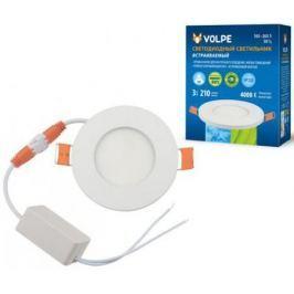 Встраиваемый светодиодный светильник (UL-00003475) Volpe ULM-Q263 3W/NW IP20 WHITE