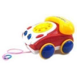 Каталка на шнурке Наша Игрушка Телефончик на веревочке желто-красный от 2 лет пластик 100312987100312987