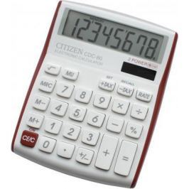 Калькулятор настольный 8 разр. 2-е питание TAX MU белый/красный, разм. 135х108х24 мм