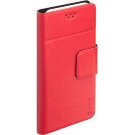 """Чехол Anycase (флип-кейс) DEPPA Anycase Wallet, для универсальный 5.5-6.5"""", красный"""