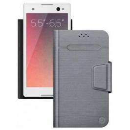 Чехол Deppa Чехол-подставка для смартфонов Wallet Fold L 5.5''-6.5'', серый, Deppa