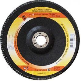 Круг Лепестковый Торцевой (КЛТ) ЭНКОР 20542 ф180х22.2мм К80 конический