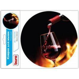 Коврик для мыши Buro BU-T60056 рисунок/вино [350572]