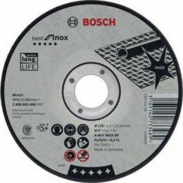 Круг отрезной BOSCH Best for Inox 125x1,5x22 (2.608.603.496) по нержавеющей стали