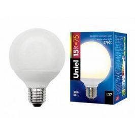 Лампа энергосберегающая (00863) E27 15W 2700K шар матовый ESL-G80-15/2700/E27