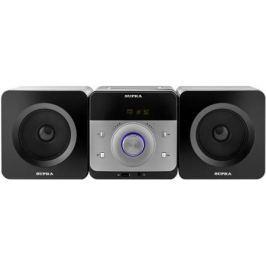 Микросистема Supra SMC-27D черный 50Вт/CD/CDRW/DVD/DVDRW/FM/USB/BT