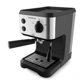 Кофеварка эспрессо Polaris PCM 1517AE 1050Вт серебристый/черный